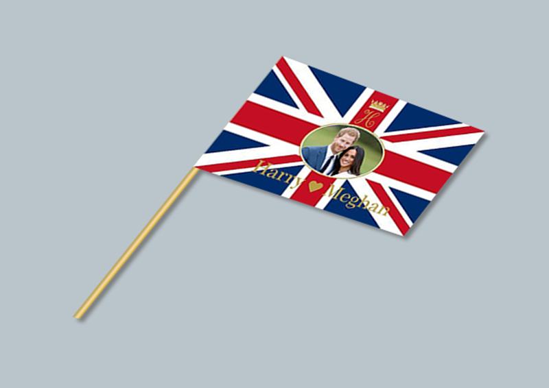 Paper Hand Waving Flags - Wood Richardson