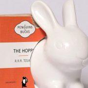 Bunny Lamp with three books