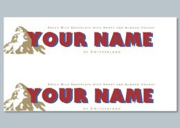 Personalised Toblerone sleeves printables